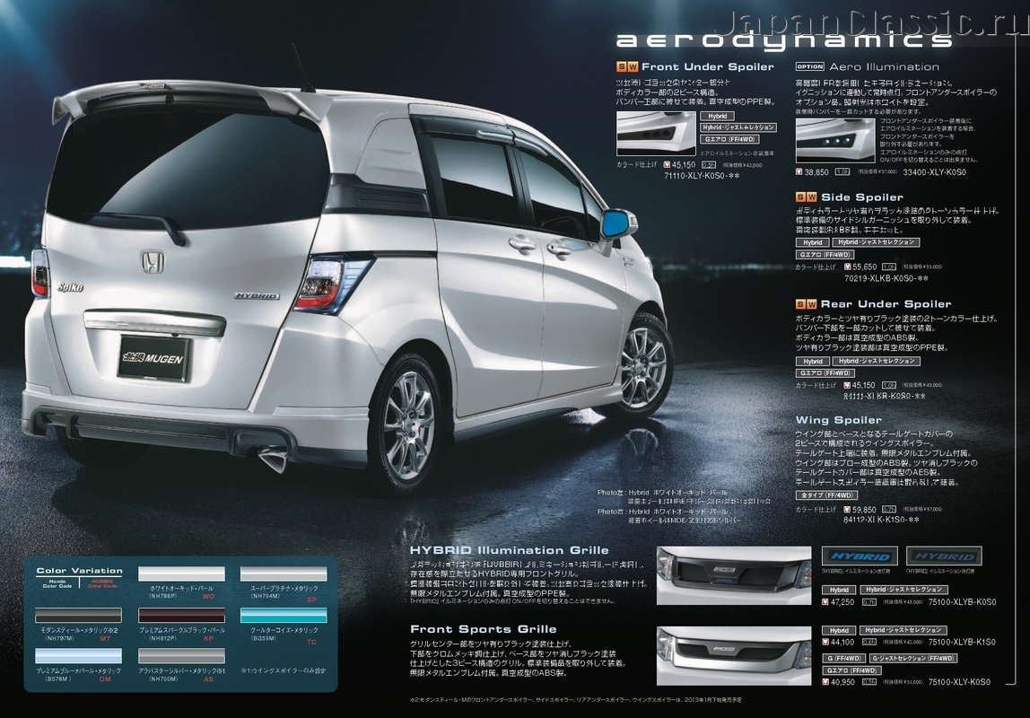 Honda Freed 2012 SPIKE MUGEN GB - JapanClassic