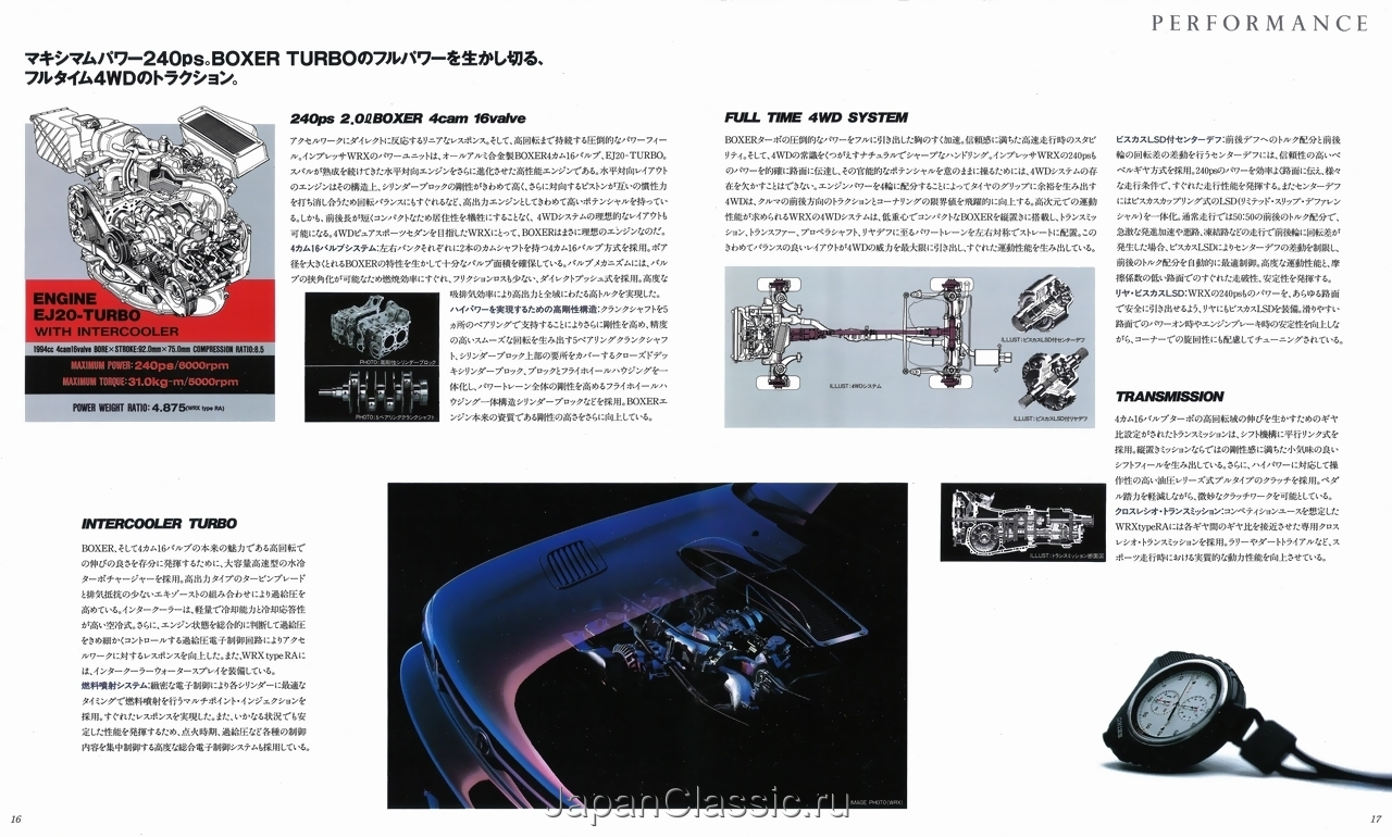 Subaru Impreza Gcgf 1992 Wrx Japanclassic Engines Boxer 4wd Diagram